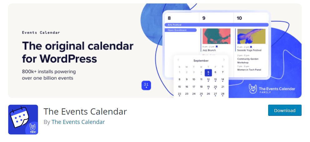 The Events Calendar WordPress availability calendar plugin