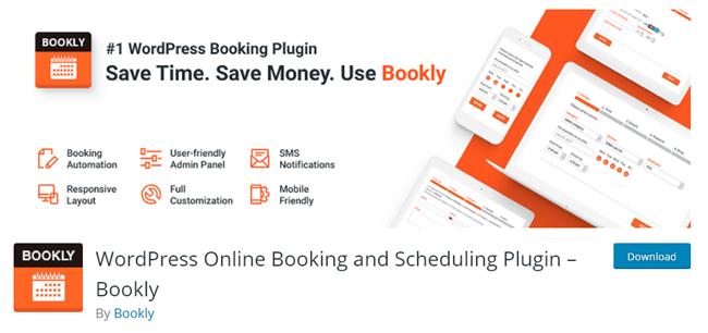 Bookly WordPress hotel booking plugin