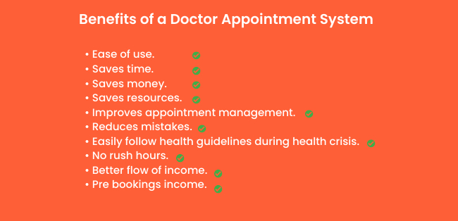 Benefits of a doctor appointment booking system