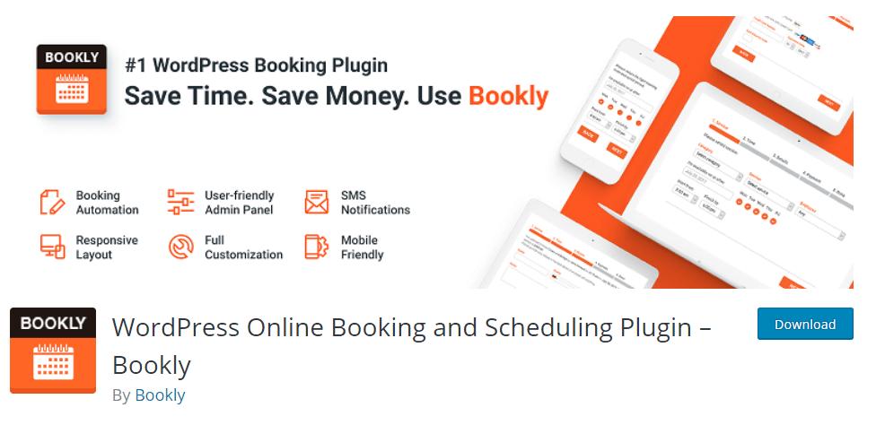 Bookly availability calendar plugin for WordPress