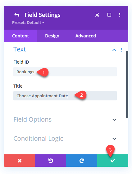 Added Field Id to the Divi Contact Form Module