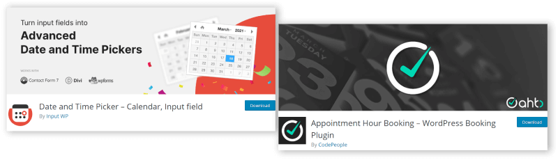 Appointment plugin for WordPress Comparison
