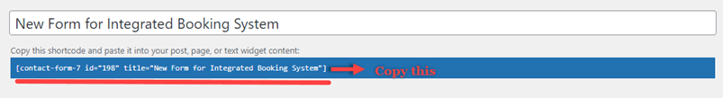 Copying Contact Form 7 Shortcode