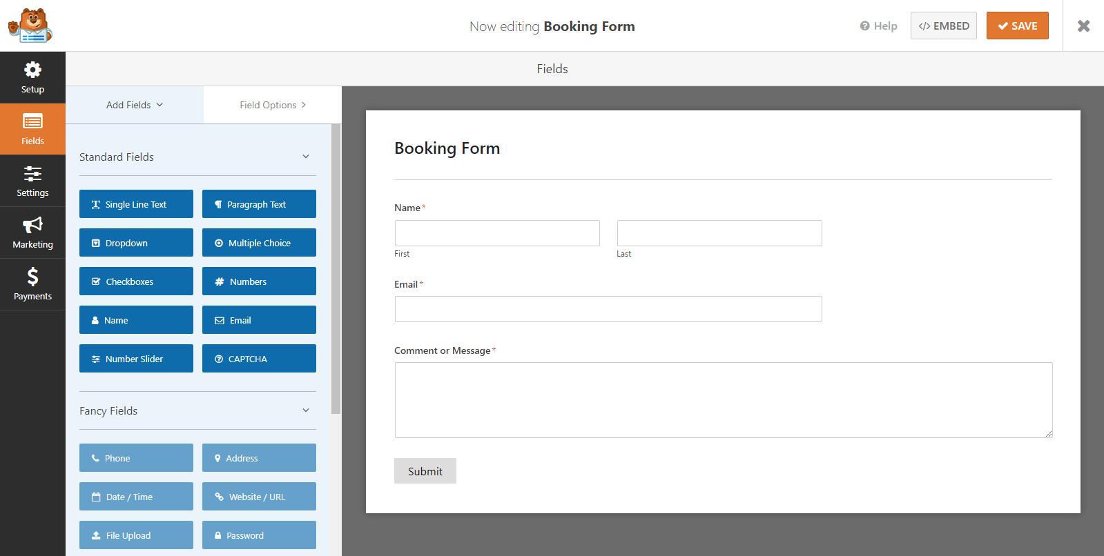 WPForms Form Editor
